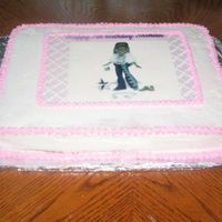 Bratz Sheet Cake This cake was baked for my great niece. had some flaws but still learning. CC icing