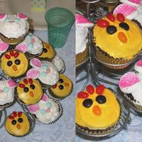 Bunny & Chick Cupcakes I made the bunny cupcakes using large marshmallows cut in 1/4, sprinkled with pink sugar, blue M&M's for eyes, pink jellybean for...