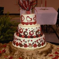 Whimsical Reception Cake