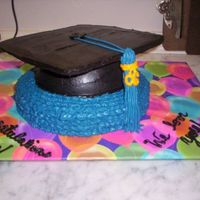 Mortarboard Graduation Cake I made this cake for my mom's college graduation. I baked the base of the mortarboard in a glass bowl and then set it on top of a two...