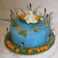 Halloween Fishing Birthday I'm oh so proud of this cake. I decided to try my hand at making chocolate ganache which I used to fill and cover the cake. Then after...