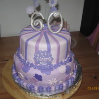 60Th Birthday Purple cake