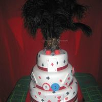 1920's Chicago Casino Night My daughter's bday cake