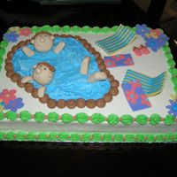 "Pool Party This is a ""practice"" cake for one I plan to do for a family reunion next month. I used buttercream and fondant. The kids are..."