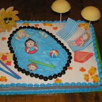 Pool Party Here is the final version of my pool party cake I made for my family reunion. I had a lot of fun making it and learned a lot. I put two...