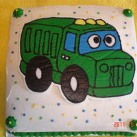 Dump Truck Cake   This is my first photo post to CC. My 21-month old son loves dump trucks so I decided to try andmake this using the FBT method.