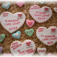 Valentine's Day Cookies..   NFSC with fondant..
