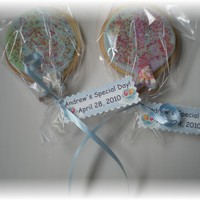 Balloon Cookies..   NFSC with fondant and royal icing accents
