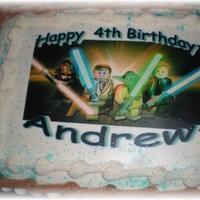 Star Wars Lego Cake..   Cake with edible image..