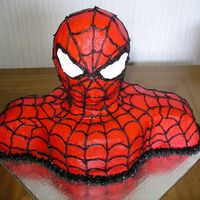Spider-Man Spider-man's head is made from Rice Krispies, the rest is chocolate cake. He was a great learning experience, but I am pleased with...