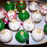 Ornament Cupcakes  Did these just for fun i used the tutorial on here with the ornament mold but I had a lot of trouble getting them out of the plastic.. i...