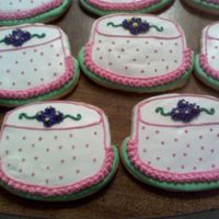 Birthday Cake Cookies I made these for my step-moms birthday, NFSC, with Antonias icing