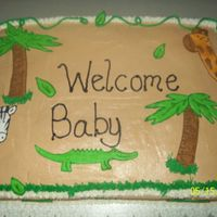 Jungle Baby Shower Jungle themed baby shower, iced w/bc and royal icing accents