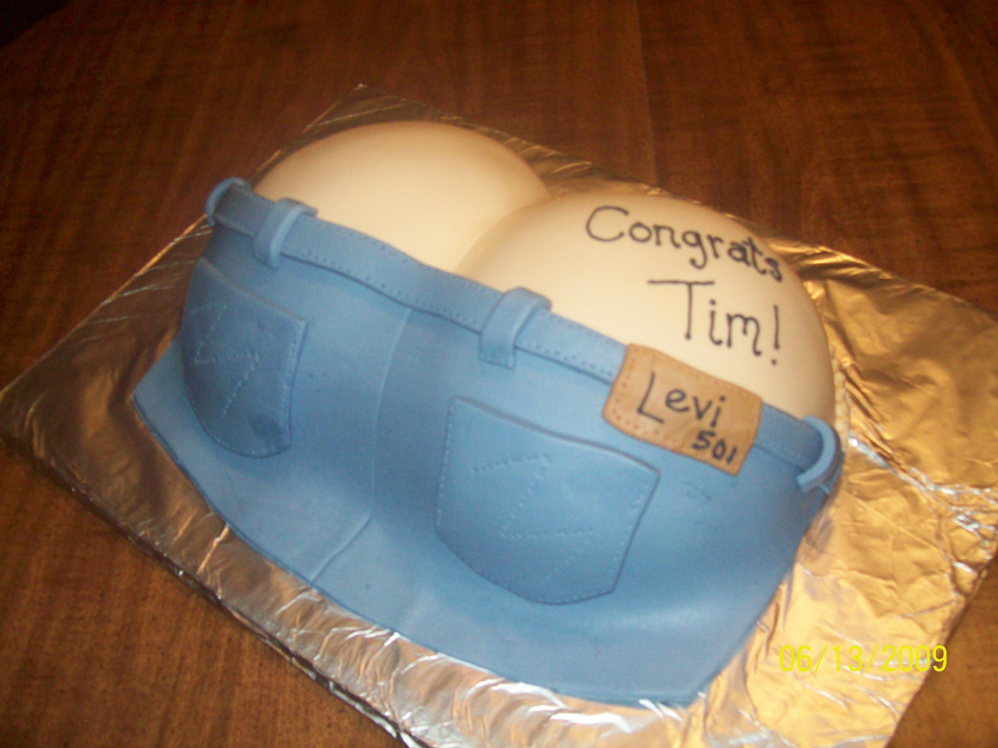 Butt Crack  Made for a graduation from plumbers school... I love the sense of humor from my friends lol... I used two dome pans and shaved them down on...