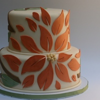 Modern Orange Flower Cake Modern orange flower kind of ended up looking like a poinsettia.