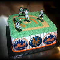 Mets Cake This was an easy cake to make for a last minute order. To see how I made this cake, copy and paste the link below. http://www....