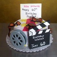 Movie Night This is one of my favorites. The decorations are all made out of gum paste. My directions on how to make this cake are here http://www....