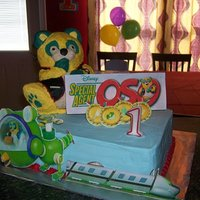 Disney's Special Agent Oso Cake I made this cake for my son's first birthday. You can see how I made this cake by copying and pasting the link below. http://www....