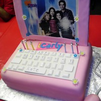Icarly Cake Had a dickens of a time w/ the screen. Used a large sugar cookie but it softened up and started buckling. If there's a next time I won...