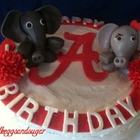 Al Football Theme Last minute cake for my god-daughter's Crimson Tide boyfriend:-) Elephants are MMF mixed w/ Tylose, MMF cut-outs and pom-poms. I'...