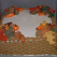 Fall Cake I made this for someone who wanted a fall cake for work,she said everyone loved it. It is a vanialla cake with starwberry filling. the...