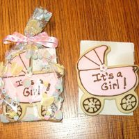 Baby Shower Carriage Cookie Cookie favor I made for a baby shower. I bought the bags and ribbon from A.C. Moore. No fail sugar cookie recipe and royal icing.