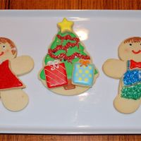 Gingerbread Woman, Man, And Christmas Tree Cookies I used the Wilton stackable cookie cutters for a gingerbread man and a Christmas tree. I made the gingerbread woman by using the same...