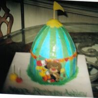 "Jojo Circus I made this for my daughter's second birthday. Jojo is colorflow. The cake is buttercream and rolled buttercream. I used 3 9""..."