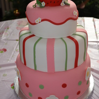 "Strawberry Shortcake Firstbirthday First Birthday. Strawberry Shortcake theme. Top ""strawberry"" is the baby's smash cake. Inspired by the many talents of the..."