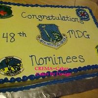 Medical Group Patches  Ok...I didn't MAKE the cake or crumb coat it or frost it...but I DID decorate it...so I can claim it right? But anyways I made 5...