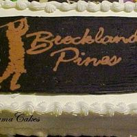 Golfing Logo  This cake was done for our Golf Course. It was a mixed cake of Choc/vanilla/strawberry and a vanilla frosting. The top is a BCT that is the...