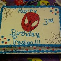Spidy Again  I feel like I have made a ton of Spiderman Cakes. This one I was quite pleased with...But the Mom said she was dissappointed that spiderman...