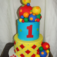 Have A Ball Thomas!  I did a similar cake for my son when he turned 1 nearly four years ago. My friend's little boy loves balls just as much as my little...