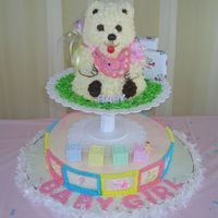 Bear Baby Shower Cake 12 x 3 and the winnie the pooh cake pan
