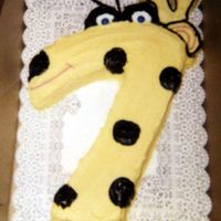 Giraffe Cake Done for a 7th birthday