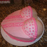 Corset Cake  This was another cake for a lingerie party. I don't really like how it came out because it was a chocolate cake. I keep saying I need...