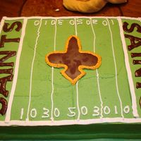 New Orleans Saints Grooms Cake  This is the field of the Superdome. This cake was a nightmare for me (as simple as it is). I had everything planned out in my mind but...