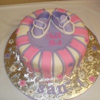 Girl Baby Shower Cake 10 inch WASC and Chocolate MarbleGumpast shoes