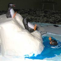 Happy Feet Cake--Detail  I made this cake for my grandson's 8th birthday--I should have made the iceberg a little pointier--based on a picture I saw here but...
