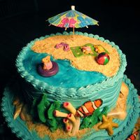 Under The Sea (Top View)   A view of the top of the cake--