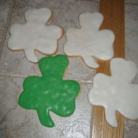 Shamrock Cookies With Rolled Buttercream