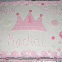 Princess Birthday Cake Here is a recent cake I made for a friend's first birthday. Princess theme.