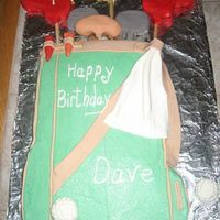 Golf Bag This is a recent cake I made for an avid golfer. He loved it ! Chocolate cake with buttercream. Fondant accents. Inspired by the Wilton...