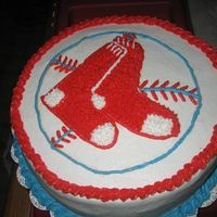 Boston Red Sox Birthday Cake Here's a cake i recently made for a huge Boston Red Sox fan.