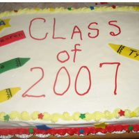 Preschool Graduation Cake This is the cake I made for my son's preschool's graduation this year. It was a hit.