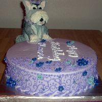 Schnauzer Jumps On Cake!