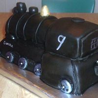 "Missed The Train This is the back view of the ""Seven O'clock train"" I just posted. I had lots of fun making the cake. I cannot wait to see..."