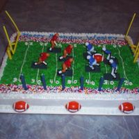 Football Field Cake Idea from Wilton's First and Ten Cake