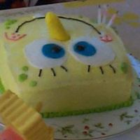 Spongebob Birthday Cake I wish I would have gotten a better pic of this cake, but didn't think it as important as it seems now. I wasn't into cake...
