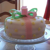 First Fondant Cake This cake was made for my daughter's friend as an experiment for my first fondant cake. Here, I used wilton fondants because I hadn&#...